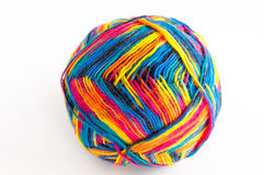 Colorful ball of wool Stock Photo