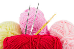 Colorful ball of wool Royalty Free Stock Photos