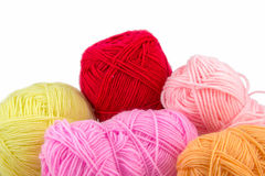 Colorful ball of wool Stock Images