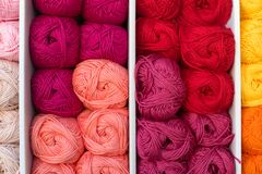 Colorful ball of wool Stock Image