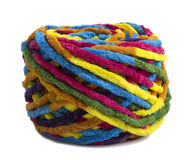 Colorful ball of woolen yarn Royalty Free Stock Image