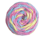Colorful ball of woolen yarn Royalty Free Stock Photos