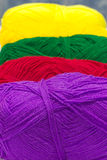 Colorful ball of woollen thread Royalty Free Stock Image
