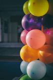 Colorful ballon column Royalty Free Stock Image