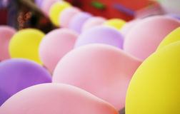 Colorful ballons. In a birthday party Stock Photos