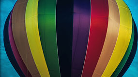Colorful ballons. Close-up of a very colorful hot air balloon in 2016 Bristol Ballon Festival Royalty Free Stock Photos