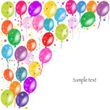 Colorful ballons and confetti vector Royalty Free Stock Photos