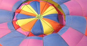 Colorful balloon. Hot air balloon, parachute, colors, colorful, rainbow, pattern, patterns, color Royalty Free Stock Photos