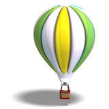 Colorful balloon. Rendering of a colorful balloon with Clipping Path and shadow over white Royalty Free Stock Images