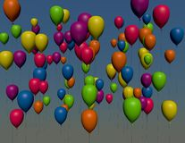 Colorful balloon, birthday background Stock Image