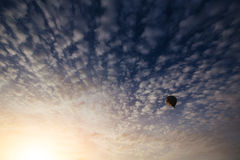 Colorful balloon on the blue sky. Royalty Free Stock Photography