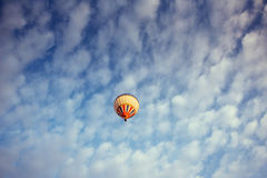Colorful balloon on the blue sky. Royalty Free Stock Photos