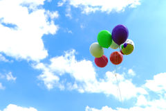 Colorful Balloon. Colorful bslloon fly to sky Stock Photo