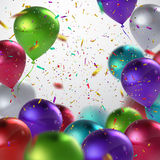 Colorful Balloon Bunch. Royalty Free Stock Photography