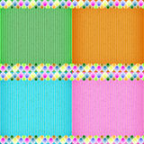 Colorful balloon card board texture Stock Photos