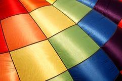 Colorful balloon cloth. Colorful cloth from a hot air balloon Stock Photos