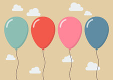 Colorful balloon stock illustration