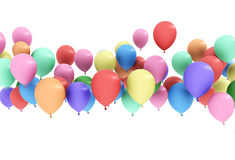 Colorful balloon floating Royalty Free Stock Photography