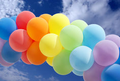 Colorful balloon forming a archway Royalty Free Stock Images