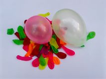 Colorful balloon green yellow red stock images