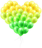 Colorful balloon in heart shape with isolated back Royalty Free Stock Photography