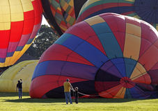 Colorful balloon launch Royalty Free Stock Image