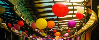Colorful balloon light. Withe distrot Royalty Free Stock Photo