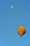 Colorful balloon with moon Stock Images