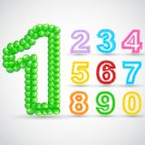 Colorful Balloon Number Set Royalty Free Stock Photography