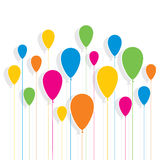 Colorful balloon pattern background Royalty Free Stock Image