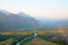 Colorful balloon in the sky. Stock Photos