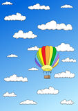 Colorful balloon in the sky Stock Images