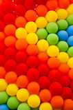Colorful balloons. Colorful ballons made by rainbow colors Royalty Free Stock Images