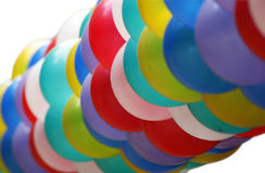 Colorful balloons. Bunch of colorful balloons on white background royalty free stock photography
