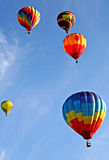 Colorful Balloons. Flying in the sky Stock Photography