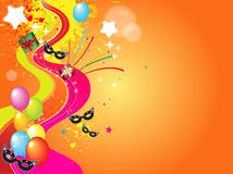 Colorful balloons. Shiny colorful balloons and confetti Royalty Free Stock Photo