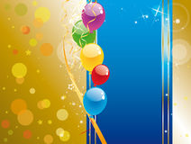 Colorful balloons. Shiny colorful balloons and confetti Royalty Free Stock Photography