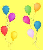 Colorful Balloons. For birthday or celebration Royalty Free Stock Photos