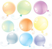 Colorful balloons. Pastel colored glossy balloons-vector will be additional Stock Photo