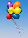 Colorful balloons. Bunch of colorful balloons in blue sky royalty free stock image