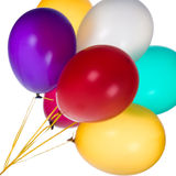 Colorful Balloons. Bunch of colorful balloons against a white background stock image
