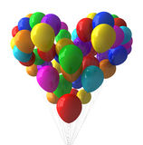 Colorful Balloons. Heart shape with colorful balloons Royalty Free Stock Image