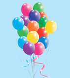 Colorful balloons. Vector illustration of colorful balloons in the sky Stock Images