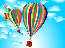 Colorful Balloons. On a blue sky. Vector file Stock Photo