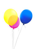 Colorful balloons. On a white background Royalty Free Stock Photo