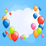 Colorful balloons. Illustration of an Abstract Background with Balloons Royalty Free Stock Photos