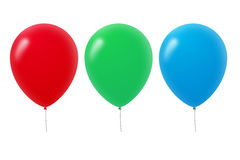 Colorful Balloons. Isolated on white background Royalty Free Stock Photos