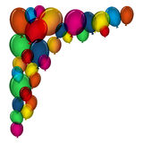 Colorful balloons. Colorful balloon background with space for text Stock Images