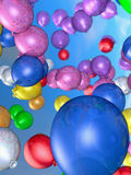 Colorful balloons. A background of colorful balloons Stock Photo