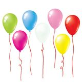Colorful Balloons. Set Of Vector Colorful Balloons Royalty Free Stock Photos